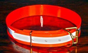 Large Reflective Orange Night Safety Collar-0
