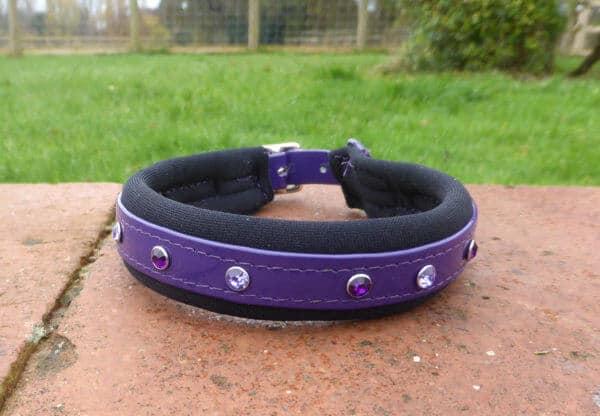 Padded Bling Dog Collar-1397